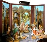 Acryic with 24K Gold Nativity Backdrop