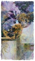 Collage on Fabric