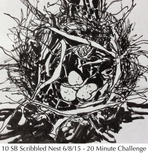 10 Scribbled Nest